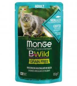Monge Cat - Bwild Grain Free - Adult - 85g x 7 buste