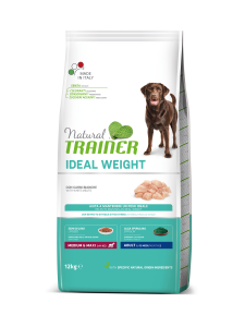 Trainer Natural - Medium&Maxi - Ideal Weight - Carni Bianche - 12 kg x 2 sacchi