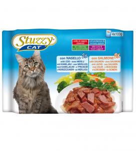 Stuzzy Cat - Flowpack - 3 x 4 buste 100g