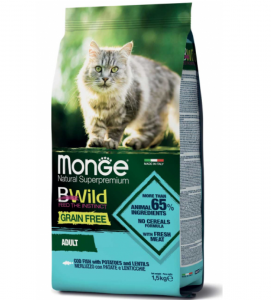 Monge Cat - BWild Grain Free - Adult - 1.5 kg