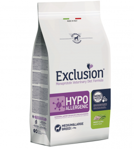 Exclusion - Veterinary Diet Canine - Hypoallergenic - Medium/Large - Insetti e Piselli - 12kg