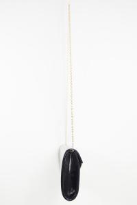Clutch nera pelle lucida | Borsa piccola vendita online