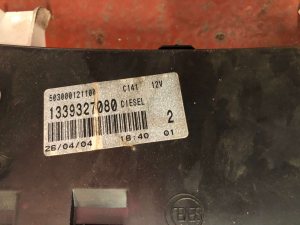 Quadro strumenti usato F. Ducato 2.3 MJT cod. 1339327080