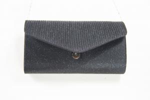 Pochette clutch glitterata nera. Borse da sera vendita online