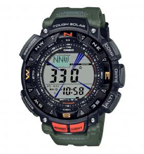 Casio Pro Trek, orologio analogico - digitale uomo multifunzione verde e nero