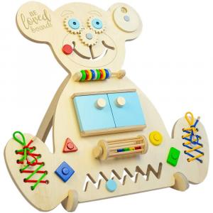 Pannello Sensoriale Montessoriano multi attività Beloved Boards Orso