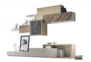Mueble modular de madera de fresno