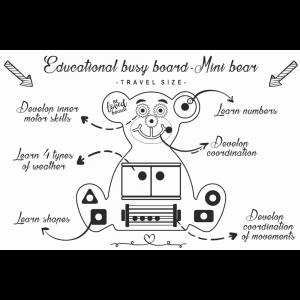 Pannello sensoriale montessoriano multi attività Beloved Boards Orso MINI