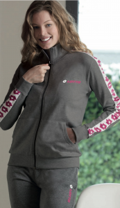 Tuta sportiva da donna in cotone con full zip e polsini LOTTO