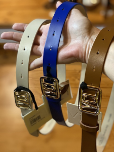 Cintura Vicolo in pelle con fibbia oro VCL