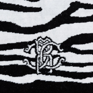 Roberto Cavalli tappeto bagno antiscivolo ZEB nero spugna di cotone