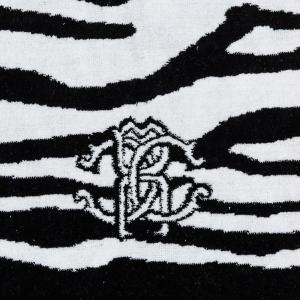 Roberto Cavalli ZEB schwarze rutschfeste Badematte aus Baumwollfrottee