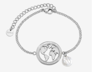 Tom Hope Bracciale Globe - Silver
