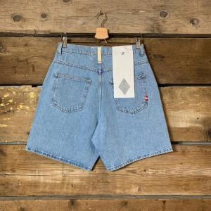 Pantaloncino Amish Supplies Uomo Bermuda Bernie Bleached Blu Chiaro