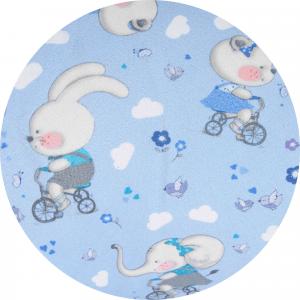 Babysanity® Cuscino Allattamento Kikka® Gravidanza Neonato XXL con Federa Esterna 100% Cotone Alta Qualità Sfoderabile per le Future Mamme Pratica Borsa Viaggio Made In Italy (Animaletti Azzurro) related image