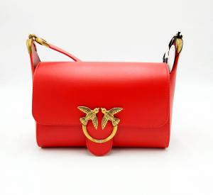 Borsa Shoulder Love Bag rossa Pinko.