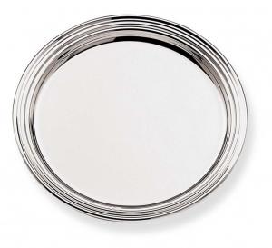 Piattino sottobicchiere placcato argento stile Inglese cm.diam.10