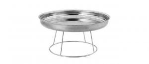 Struttura rotonda in acciaio Inox con vassoio per frutti di Mare cm.22,5h diam.36