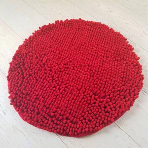 Tappeto antiscivolo passatello rotondo rosso
