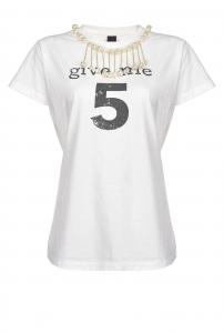 T-shirt Estroverso in jersey di cotone Pinko.