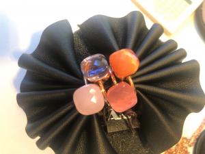 Anelli in argento 925% con quarzi colorati