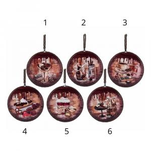 Sottopentola ceramica opaca con base in sughero da appendere