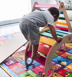 Dondolo dell'equilibrio Balance Board Baby Rocker BABYWOOD Waldorf Montessori Pikler