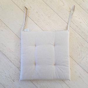 Cuscino per sedia tinta unita beige