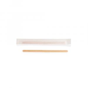 Palette caffè in legno imbustata singolarmente - 11 cm