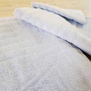 Asciugamani grigio effetto onda