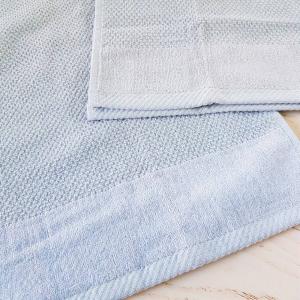 Coppia asciugamani chicco di riso e ciniglia grigio polvere