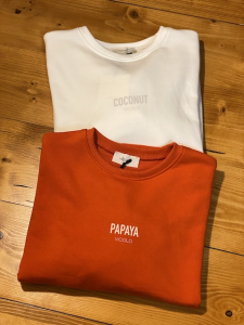Felpa Vicolo Coconut e Papaya