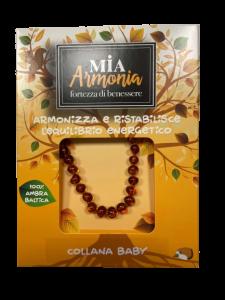 MIA ARMONIA COLLANA AMBRA BABY COGNAC