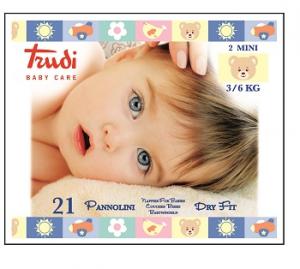 TRUDI BABY CARE PANNOLINI DRY FIT MINI 3 6KG