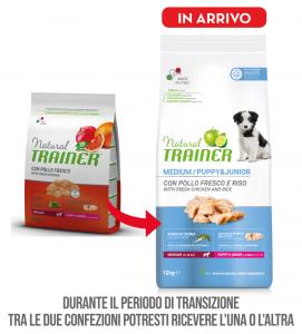 Trainer Natural - Medium - Puppy&Junior - 12 kg x 2 sacchi