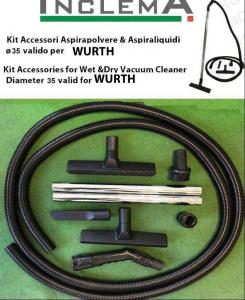 KIT tubo flessibile e Accessori Aspirapolvere & Aspiraliquidi ø35 (tubo diametro 32) valido per WURTH