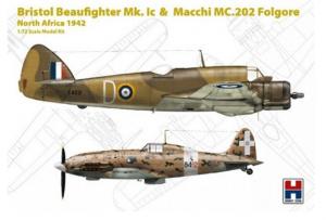Bristol Beaufighter Ic & Macchi MC.202 Folgore North Africa 1942