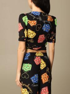 Blusa a V moschino couture