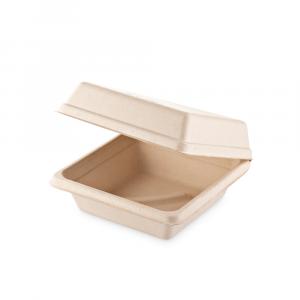 Box a conchiglia Brown quadrato medio - 16x16x8 cm