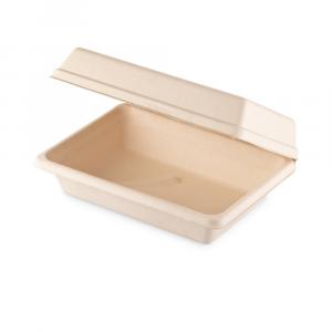 Box a conchiglia Brown rettangolare piccolo - 22.5x16x8 cm