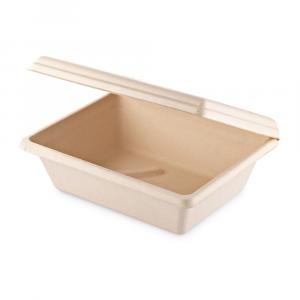 Box a conchiglia Brown rettangolare medio - 23,5x19x7 cm