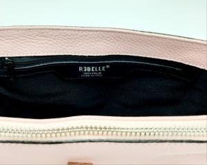 Cartella mini Chlod in pelle bottalata rosa REBELLE