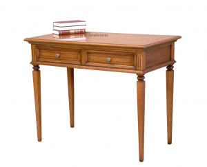 Mesa de despacho con marquetería y cajones
