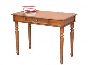 Mesa de despacho en madera de artesanado italiano 1 cajón