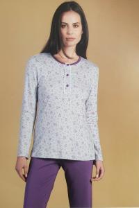 Pigiama Donna invernale serafino LINCLALOR Caldo Cotone 100% 92314 TG.56/58 MAXI