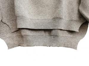 Maglia donna viscosa e lurex   grigia   scollo a V   made in Italy