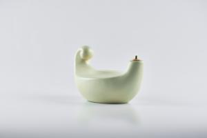 Lucerna porcellana bianca cm. 20