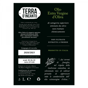 Olio Extravergine d'Oliva Non Filtrato 5 Lt