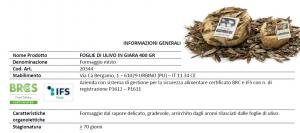 Formaggio stagionato in Giara in foglie di Ulivo - 400gr
