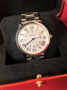 Orologio primo polso Cartier Ronde Solo De Cartier